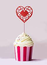 Топпер для кап-кейков Сердце ажурное