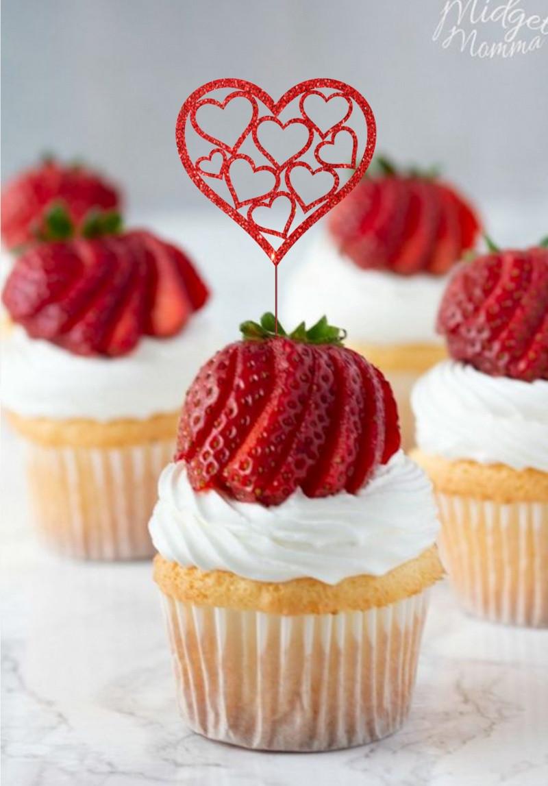 Топпер для кап-кейков Серде с сердечки