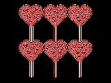 Топпер для кап-кейков Серде с сердечки, фото 2