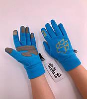 Зимові рукавиці флісові Jack Wolfskin Blue