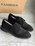 Черные туфли на маленьком каблуке бренд Esprit, фото 5