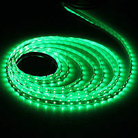 Светодиодная LED лента 5050 Green,  зеленый дюралайт
