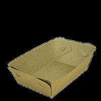 Тарелка-лодочка крафт, с ламинацией, верх 205х140, дно 135х85, высота 50мм, 50шт/уп, 200шт/ящ