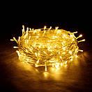 Новогодняя гирлянда нить Xmas 100 LED ламп желтого свечения (прозрачный провод, 10 метров), фото 2