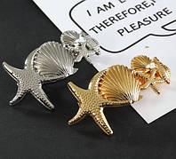 Заколка автоматик Морской стиль (цвет золото или серебро), фото 1