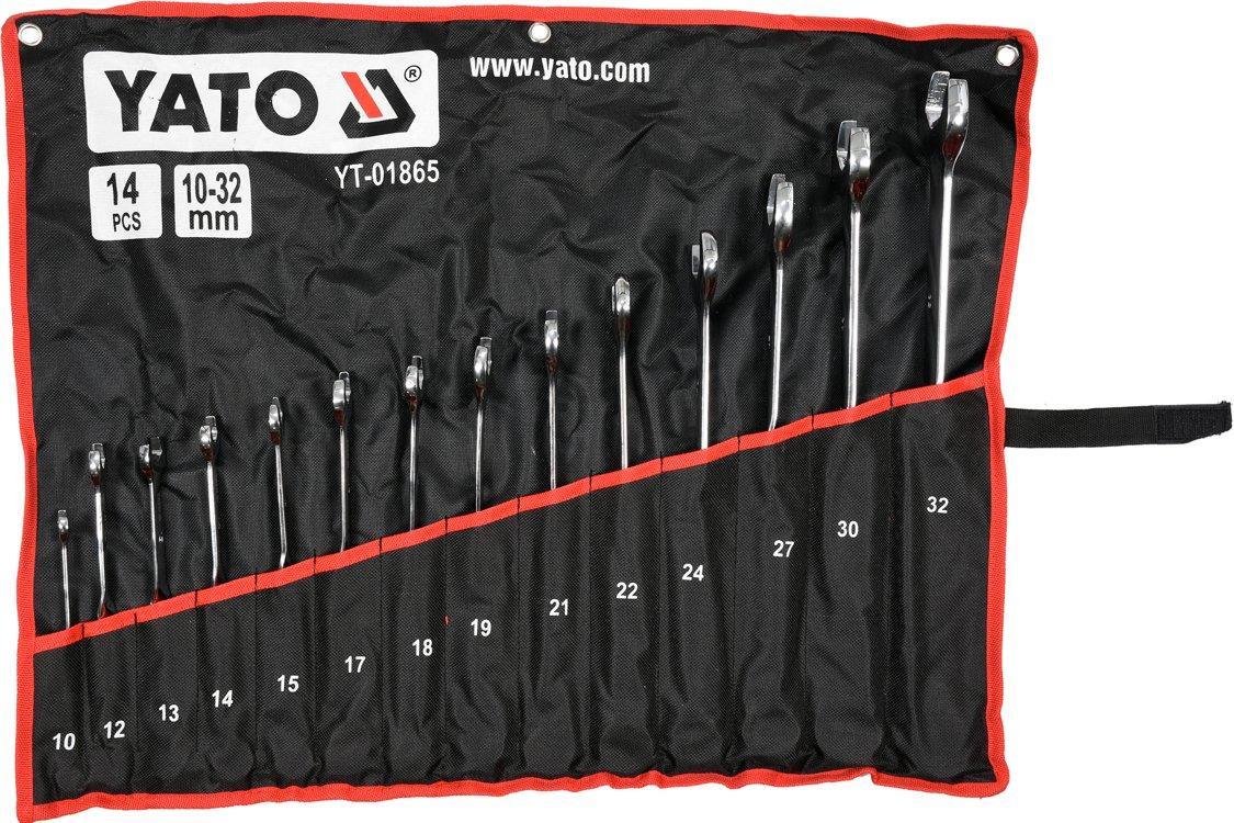 Набор ключей комбинированных 14 предметов YATO YT-01865
