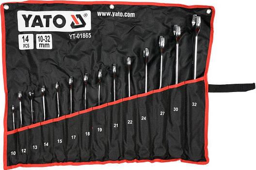 Набор ключей комбинированных 14 предметов YATO YT-01865, фото 2