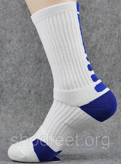 Носки для баскетбола Sport Socks Mid White Blue