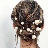 Шпилька для волос с жемчужиной (диаметр 12см)