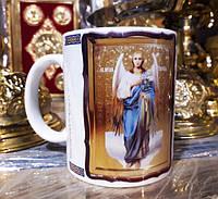 Чашка, кружка с образом Ангела Гавриила и молитвой защиты