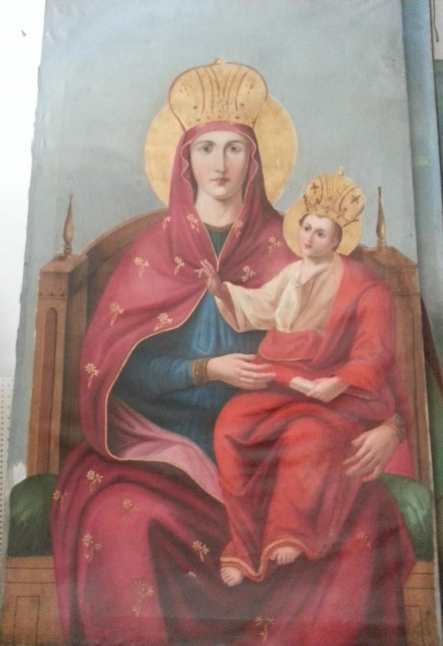 Икона Богородица с младенцем 19 век