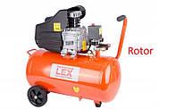 Компрессор с ресивером Lex LXC 50 / Автоматический повторный пуск (покраски авто воздушный дома гараж 2800 Вт)