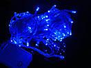 Новогодняя гирлянда нить Xmas 100 LED ламп синего свечения (прозрачный провод, 10 метров), фото 2