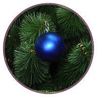 """Набор елочных шаров """"Биг""""(80мм, синий, тубус, матовый)  6шт"""
