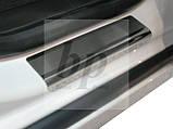 Защитные хром накладки на пороги Chevrolet Cruze 4D/ 5D (шевроле круз седан 2008+/хэтчбек 2011+), фото 2