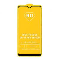 Защитное стекло Full Glue для Vivo Y91c (черный) (клеится всей поверхностью)