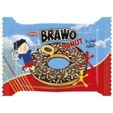 """Донат """"Bravo"""" шоколад с посыпкой 50 гр 24 шт"""
