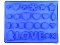 """Форма силиконовая для декора и конфет """"Любовное ассорти"""", фото 1"""