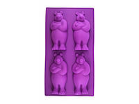 Форма силиконовая Медведь, фото 1