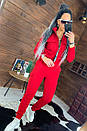 Женский утепленный спортивный костюм с бомбером на молнии 44so815, фото 3