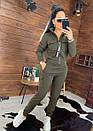 Женский утепленный спортивный костюм с бомбером на молнии 44so815, фото 4