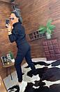 Женский утепленный спортивный костюм с бомбером на молнии 44so815, фото 6
