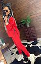 Женский теплый спортивный костюм на флисе с молниями на кофте 44so816, фото 2
