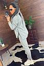 Женский теплый спортивный костюм на флисе с молниями на кофте 44so816, фото 3