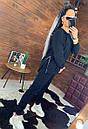 Женский теплый спортивный костюм на флисе с молниями на кофте 44so816, фото 4
