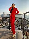 Женский ангоровый костюм с укороченной кофтой и широкими брюками 72ks345, фото 2