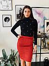 Замшевая юбка - карандаш с карманами 4si1332, фото 2