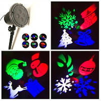 Лазерный проектор для улицы 12 рисунков Новогодний 0315