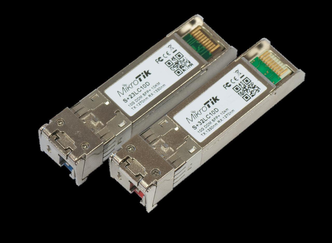 Пара модулей SFP+ Mikrotik S+2332LC10D