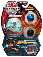 Bakugan Battle Planet Набор из 3 бакуганов Хаос Гидориус 283999 Battle Brawlers Haos Hydorous Starter Pack