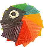 Кольорова вощина (10 кольорів) - набір для виготовлення качаних свічок і творчості розмір аркуша 10 на 13 см, фото 2