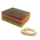 Кольорова вощина (10 кольорів) - набір для виготовлення качаних свічок і творчості розмір аркуша 10 на 13 см, фото 3