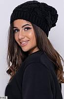 Шапка женская зимняя нить марс Турция,цвет черный