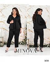 Крутой черный костюм 50-60 с пайетками вечерний праздничный вариант размер