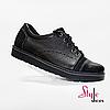 Туфли мужские оксфорды черного цвета