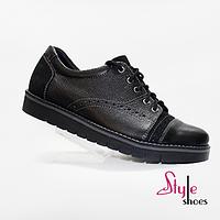 Туфли мужские оксфорды черного цвета, фото 1