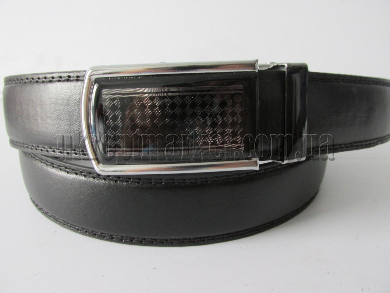 """Ремень мужской брючный автомат стекло (кож.зам, 35 мм.)   """"Remen"""" LM-638"""