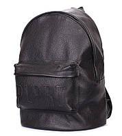 Кожаный рюкзак Poolparty Leather (черный)
