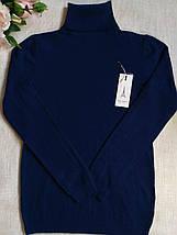 Гольф женский из шерсти теплый с высоким горлом и манжетами S \ XL 40 42 44 46 48 водолазка женская цвета, фото 3
