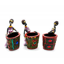 Фигурка декоративная Африканка с корзиной