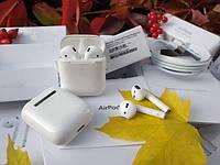 Apple AirPods 2 Люкс навушники беспроводная зарядка наушники Аирподс
