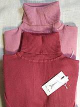 Гольф женский из шерсти теплый с высоким горлом и манжетами S \ XL 40 42 44 46 48 водолазка женская цвета, фото 2