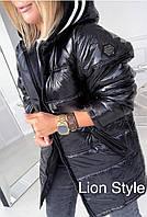 Зимняя куртка плащевка лак