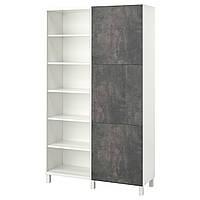 IKEA BESTA Стеллаж с дверями 120x42x202 см (093.050.68), фото 1