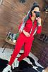 Женский утепленный спортивный костюм с бомбером на молнии 44rt815, фото 3