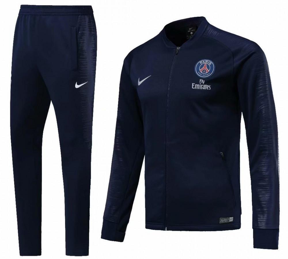 Детский спортивный костюм ПСЖ/PSG ( Франция, Лига 1 ), синий, сезон 2019-2020